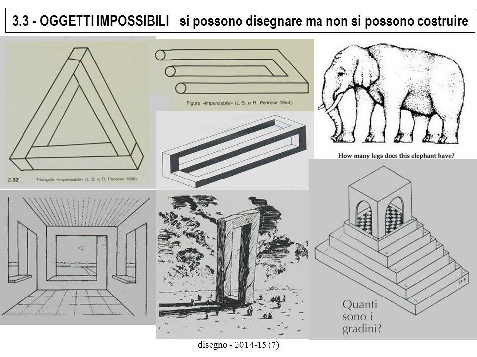 università di macerata - sdf - arte e disegno - 2014-15 (7) 3.3 - OGGETTI IMPOSSIBILI si possono disegnare ma non si possono costruire