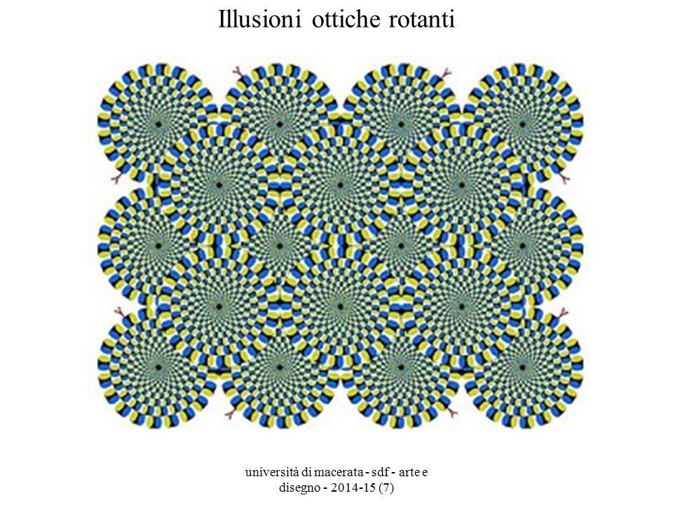 università di macerata - sdf - arte e disegno - 2014-15 (7) Illusioni ottiche rotanti