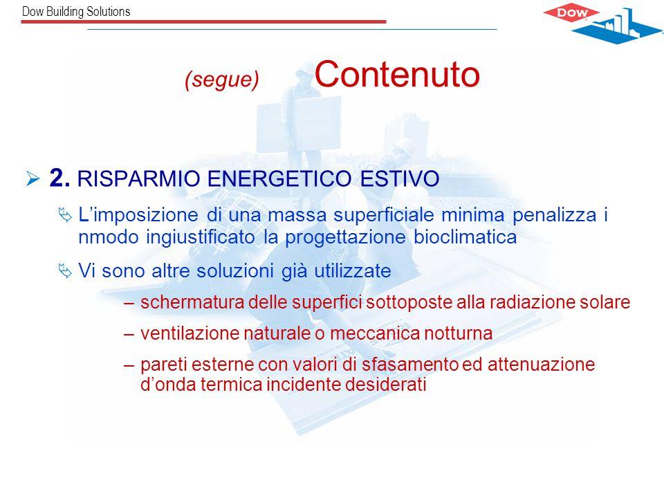 Dow Building Solutions Carlos Castro / The Dow Chemical CompanySILVIA ABBANEO (segue) Contenuto  2.