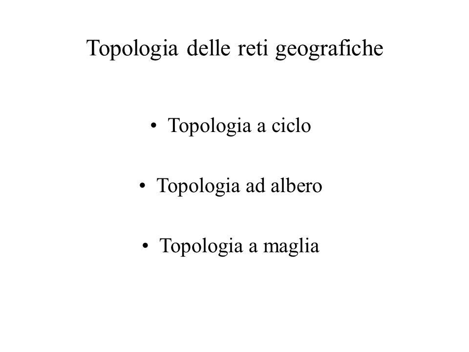Topologia delle reti geografiche Topologia a ciclo Topologia ad albero Topologia a maglia