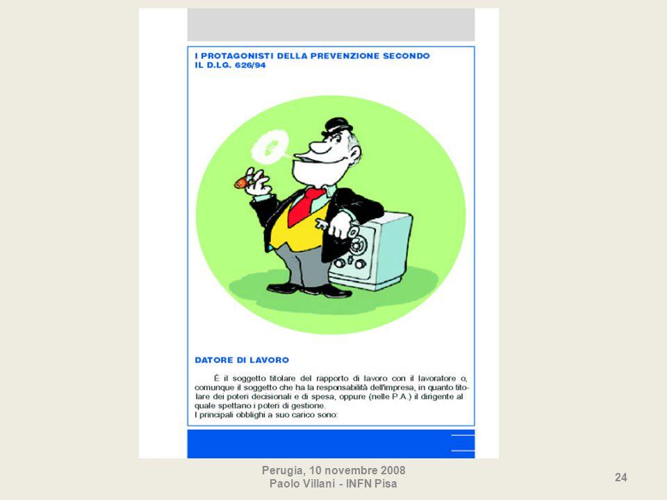 Perugia, 10 novembre 2008 Paolo Villani - INFN Pisa 24