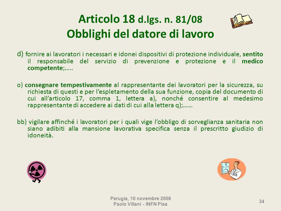 Articolo 18 d.lgs. n.