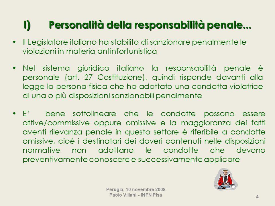 4 I) Personalità della responsabilità penale...