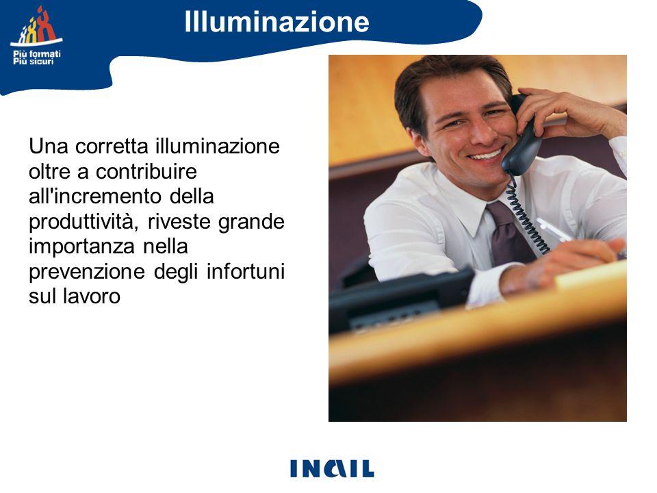 Una corretta illuminazione oltre a contribuire all incremento della produttività, riveste grande importanza nella prevenzione degli infortuni sul lavoro Illuminazione