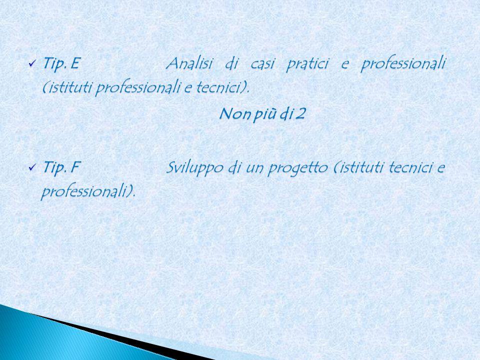 Tip. EAnalisi di casi pratici e professionali (istituti professionali e tecnici).