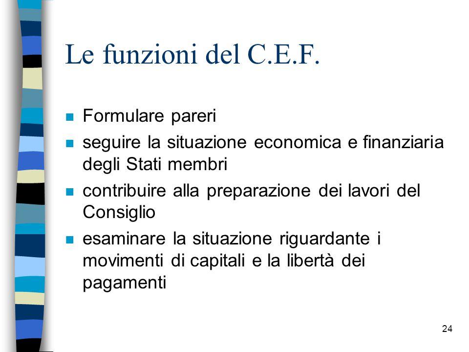 24 Le funzioni del C.E.F.