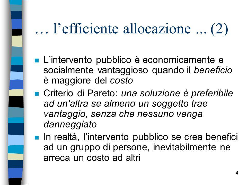 5 … l'efficiente allocazione...