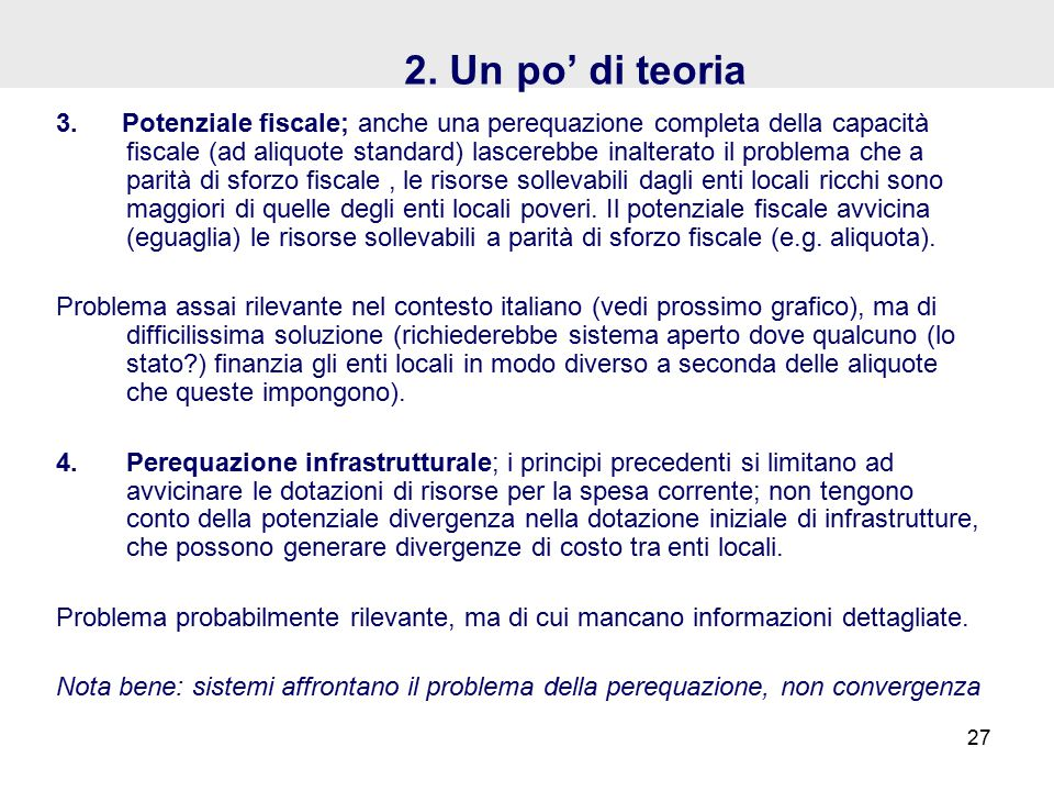 2. Un po' di teoria 3.