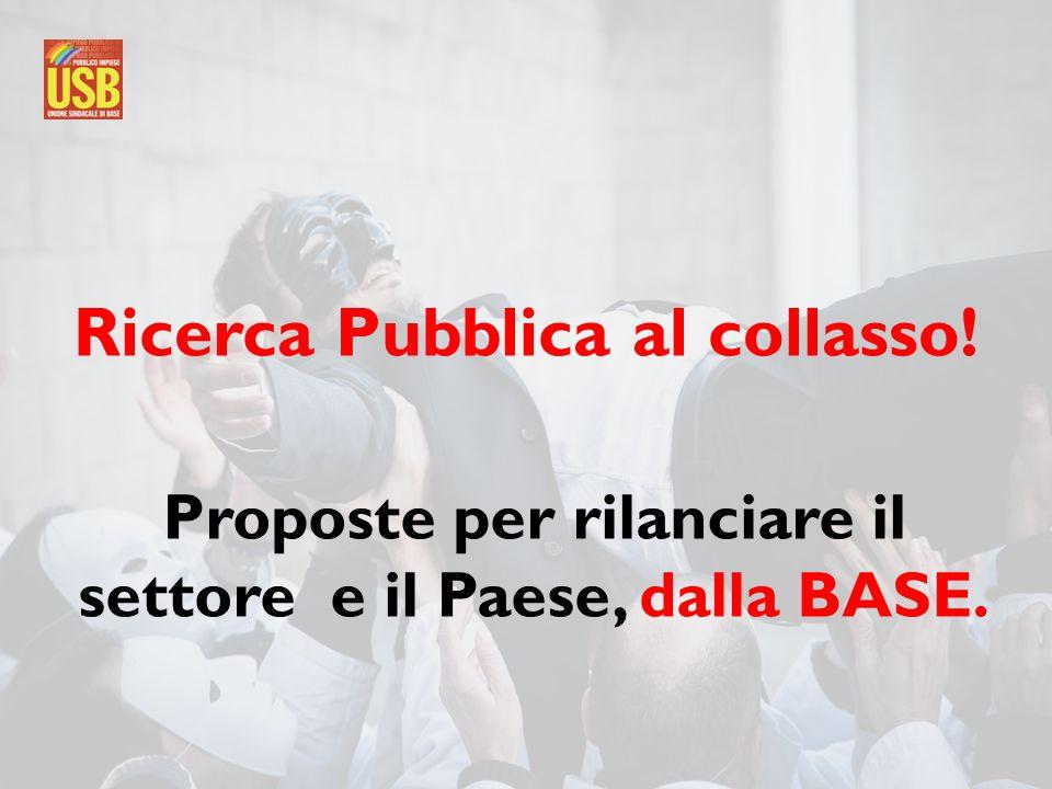 Ricerca Pubblica al collasso! Proposte per rilanciare il settore e il Paese, dalla BASE.