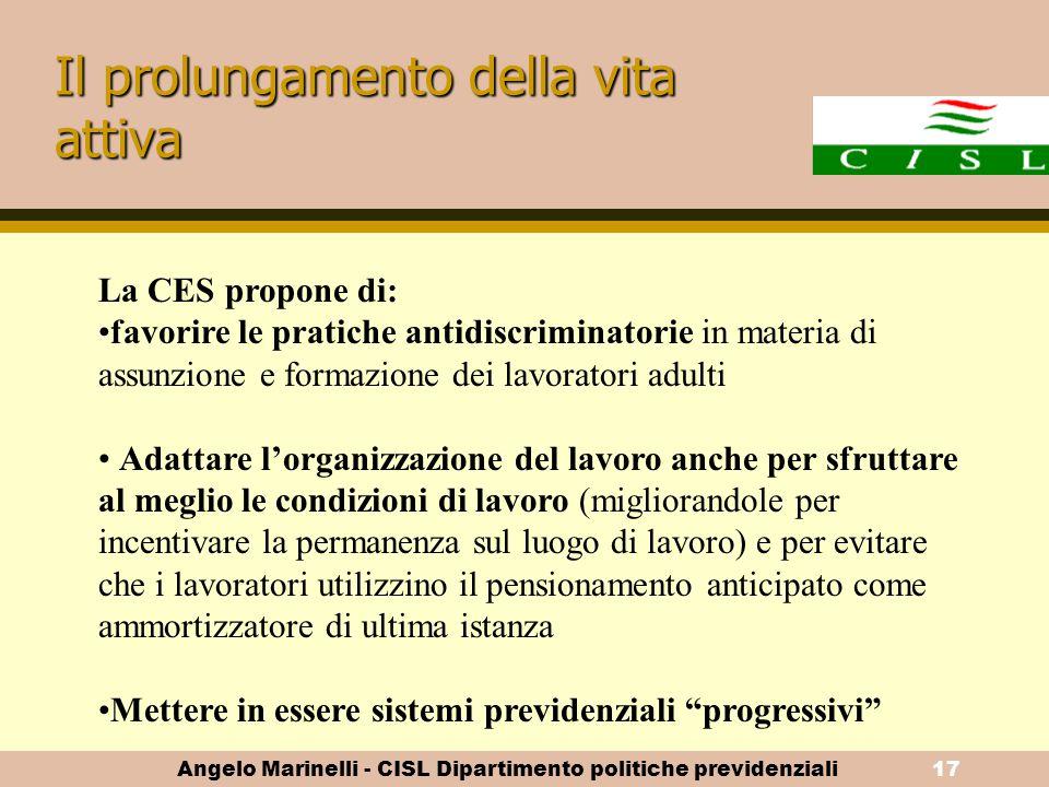 Angelo Marinelli - CISL Dipartimento politiche previdenziali16 I regimi legali e la solidarietà (2)