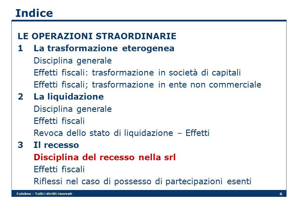Eutekne – Tutti i diritti riservati 7 Indice I GRUPPI SOCIETARI Nuova disciplina della responsabilità della capogruppo (art.