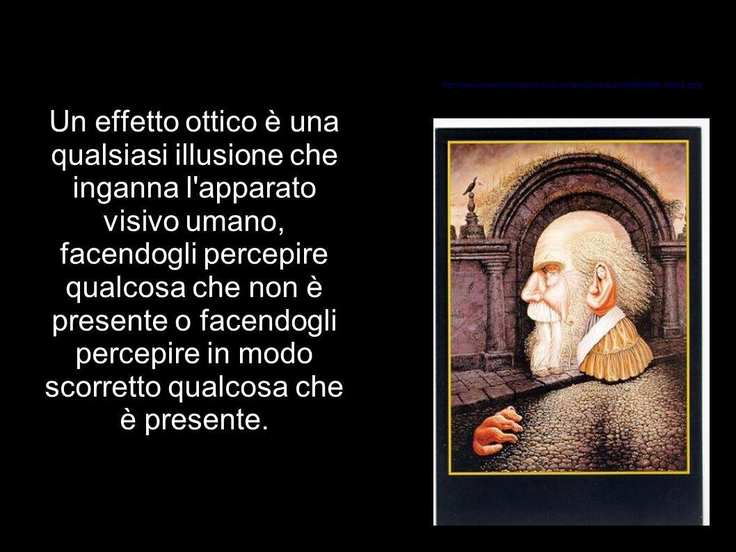 Un effetto ottico è una qualsiasi illusione che inganna l'apparato visivo umano, facendogli percepire qualcosa che non è presente o facendogli percepi