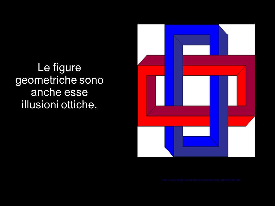 Le figure geometriche sono anche esse illusioni ottiche. http://www.segnalidivita.com/illusioni/illusione_ottica/Anelli.htm