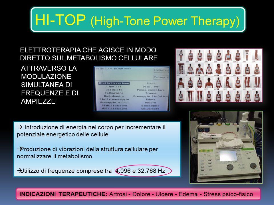 HI-TOP (High-Tone Power Therapy) ATTRAVERSO LA MODULAZIONE SIMULTANEA DI FREQUENZE E DI AMPIEZZE  Introduzione di energia nel corpo per incrementare