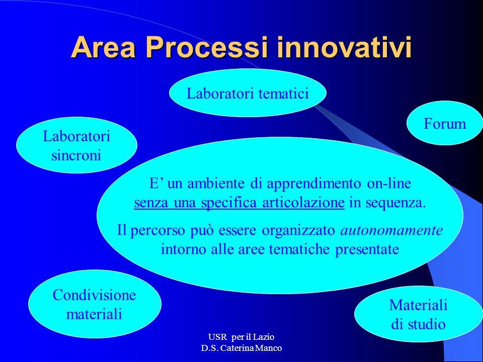USR per il Lazio D.S. Caterina Manco Area informatica Sviluppo delle competenze di base per gli insegnanti Introduzione dell'informatica nelle prime d