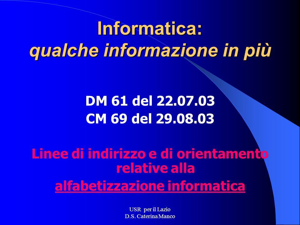 USR per il Lazio D.S. Caterina Manco Area Processi innovativi Laboratori sincroni Materiali di studio Condivisione materiali Forum Laboratori tematici