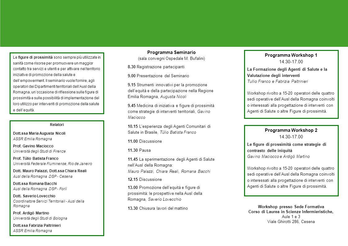 Programma Seminario (sala convegni Ospedale M.