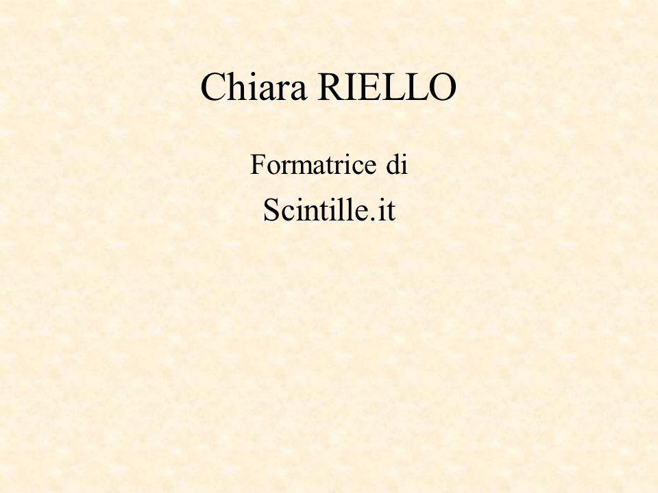Chiara RIELLO Formatrice di Scintille.it