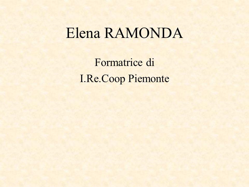 Elena RAMONDA Formatrice di I.Re.Coop Piemonte
