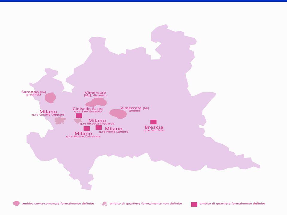 Gli strumenti della coesione sociale: l'innovazione difficile Pluralità degli strumenti utilizzabili: contratti di quartiere, progetti sperimentali regionali, legge 45/99, bandi provinciali, piani di zona ex 328/00 Progetti a tempo: finalizzati a finanziare azioni specifiche di tipo innovativo, non utilizzabili per sostenere il consolidamento nel tempo La scarsità di altre risorse per il consolidamento favorisce strategie d'uso finalizzate a finanziare più l'esistente che l'innovazione Sarebbe utile un approccio meno orientato alla spesa e più orientato all'investimento
