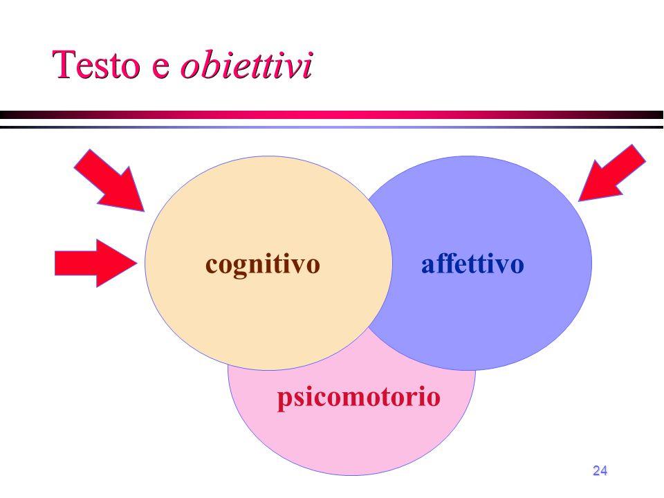 24 Testo e obiettivi affettivo psicomotorio cognitivo