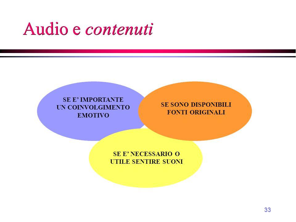 34 Audio e obiettivi affettivo psicomotorio cognitivo