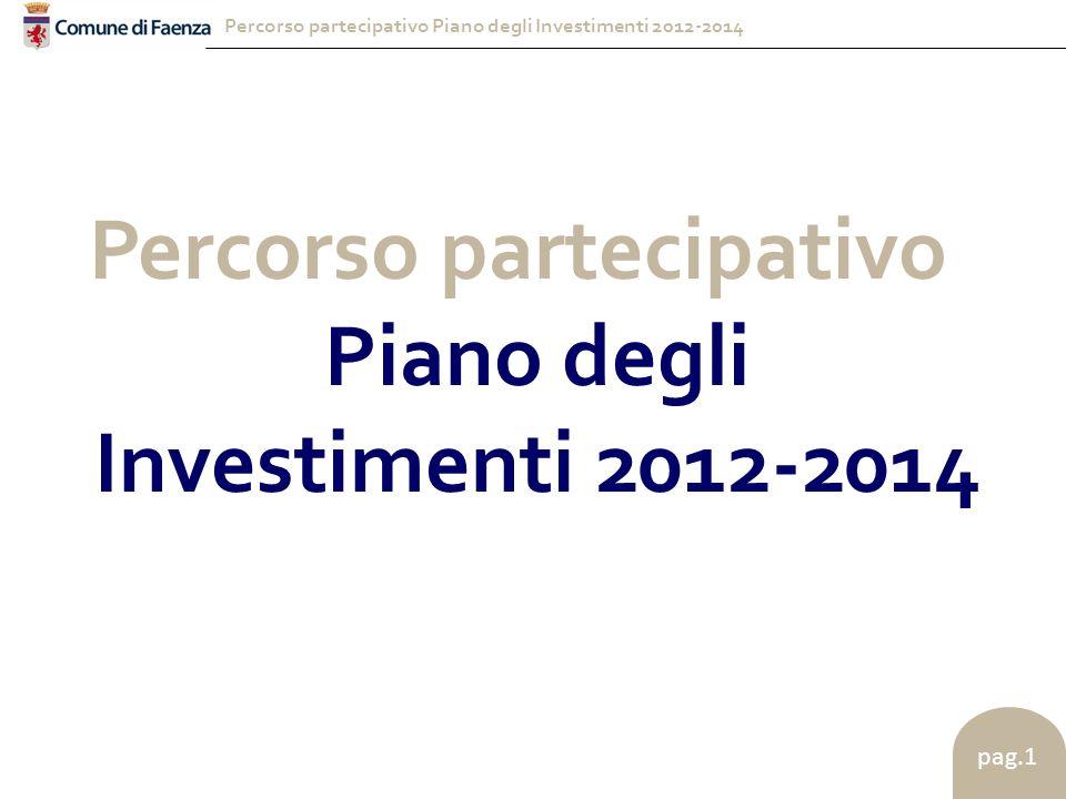 Percorso partecipativo Piano degli Investimenti 2012-2014 pag.1 Percorso partecipativo Piano degli Investimenti 2012-2014