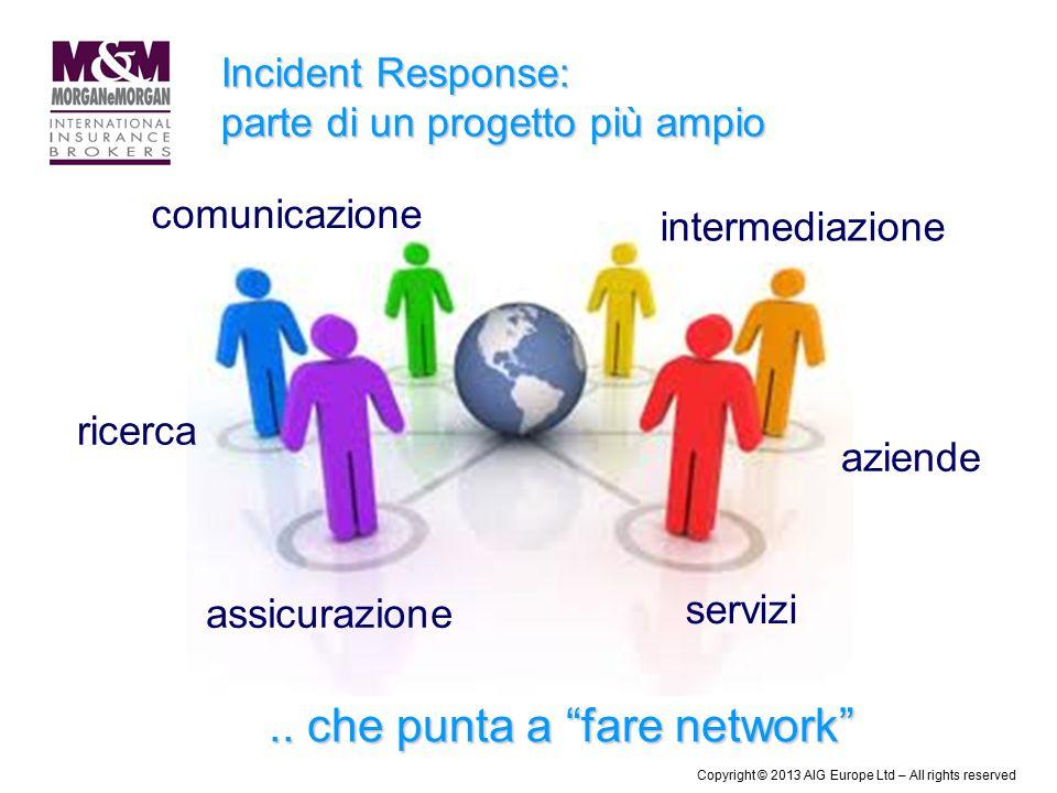 """Incident Response: parte di un progetto più ampio ricerca comunicazione assicurazione servizi intermediazione aziende.. che punta a """"fare network"""" Cop"""