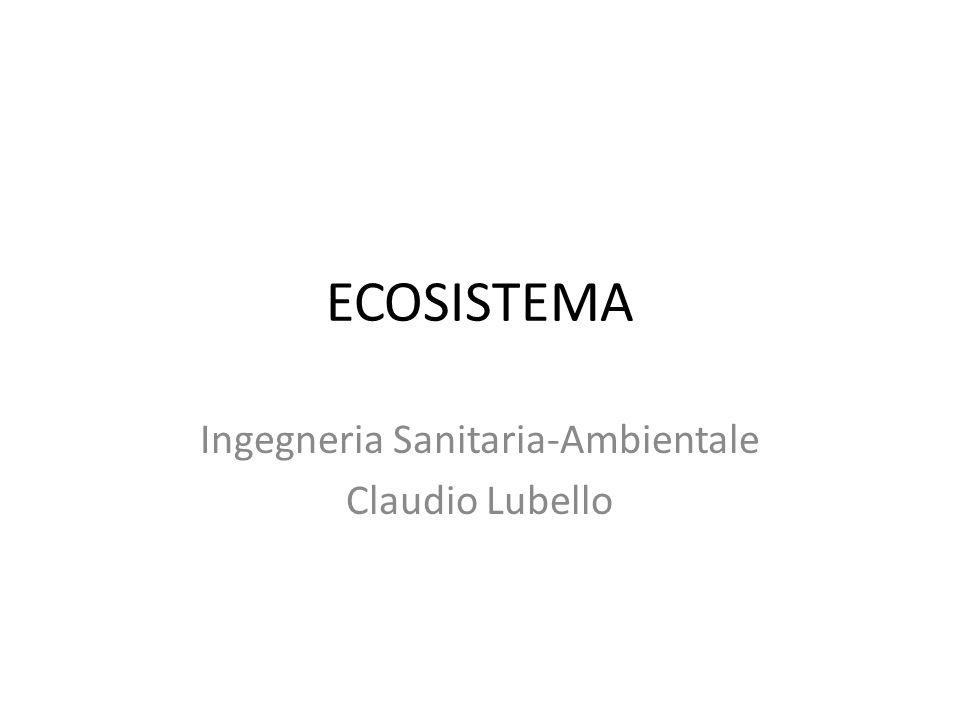 Definizione L'ecosistema è un insieme interagente di comunità biotiche e ambiente fisico circostante.