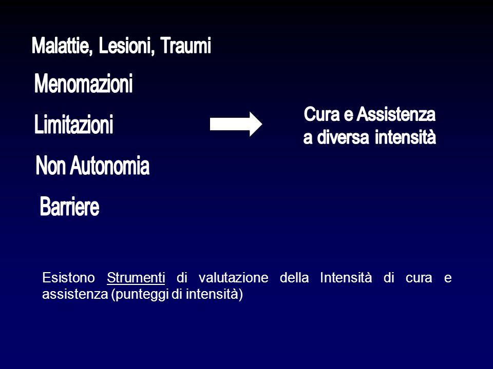 Esistono Strumenti di valutazione della Intensità di cura e assistenza (punteggi di intensità)