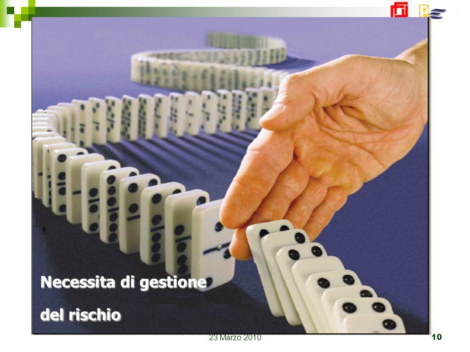 Bologna 23 Marzo 2010 10 Necessita di gestione del rischio