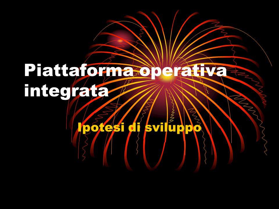 Piattaforma operativa integrata Ipotesi di sviluppo