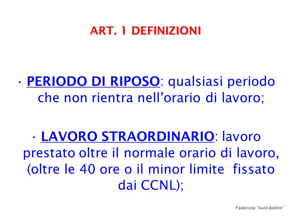 Federcoop Nullo Baldini ART.