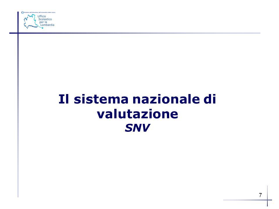 Il sistema nazionale di valutazione SNV 7