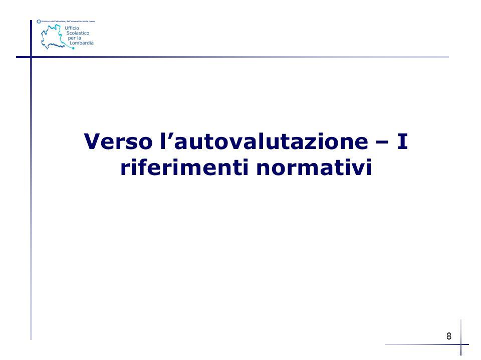 Verso l'autovalutazione – I riferimenti normativi 8