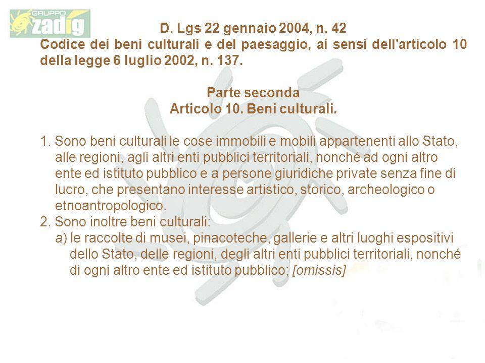 D.Lgs 22 gennaio 2004, n.