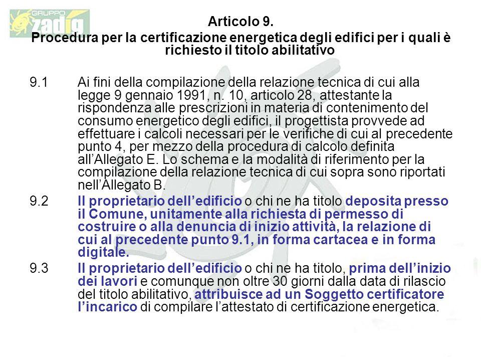 Articolo 9.