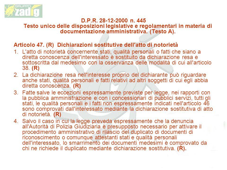D.P.R.28-12-2000 n.