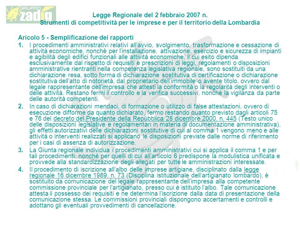 Legge Regionale del 2 febbraio 2007 n.