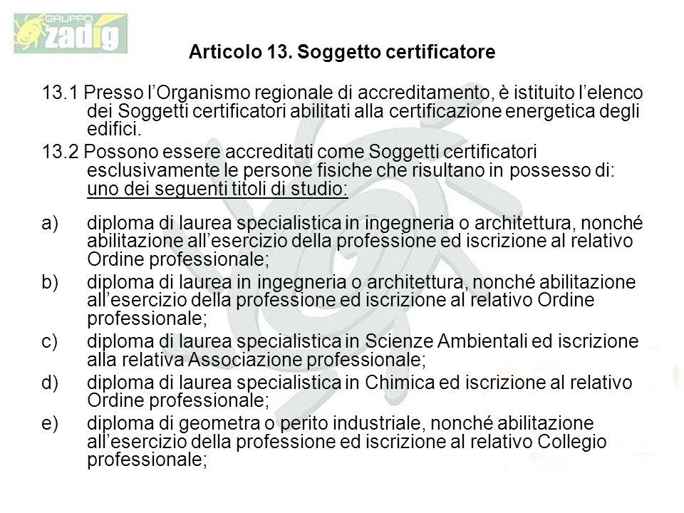 Articolo 13.