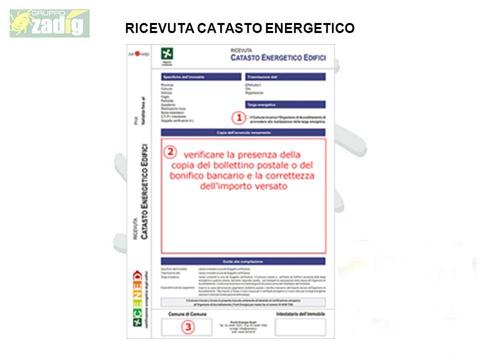 RICEVUTA CATASTO ENERGETICO