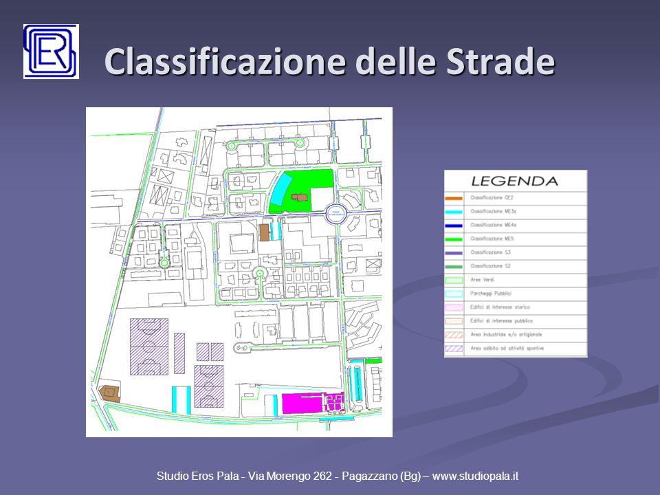 Classificazione delle Strade Studio Eros Pala - Via Morengo 262 - Pagazzano (Bg) – www.studiopala.it