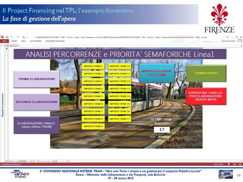 """11 6° CONVEGNO NAZIONALE SISTEMA TRAM - """"Non solo Tram: I sistemi a via guidata per il trasporto Pubblico Locale"""" Roma – Ministero delle Infrastruttur"""
