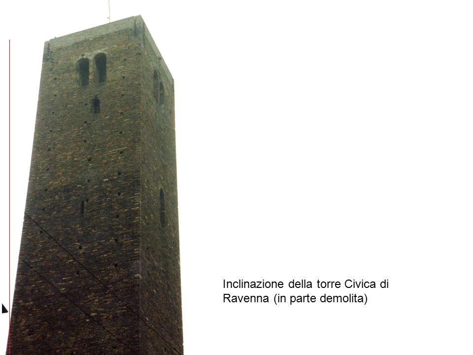 Inclinazione della torre Civica di Ravenna (in parte demolita)