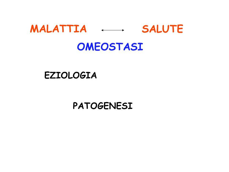 OMEOSTASI MALATTIA EZIOLOGIA PATOGENESI SALUTE