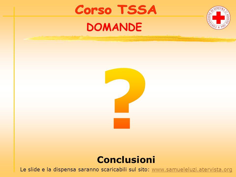 DOMANDE Conclusioni Le slide e la dispensa saranno scaricabili sul sito: www.samueleluzi.atervista.orgwww.samueleluzi.atervista.org