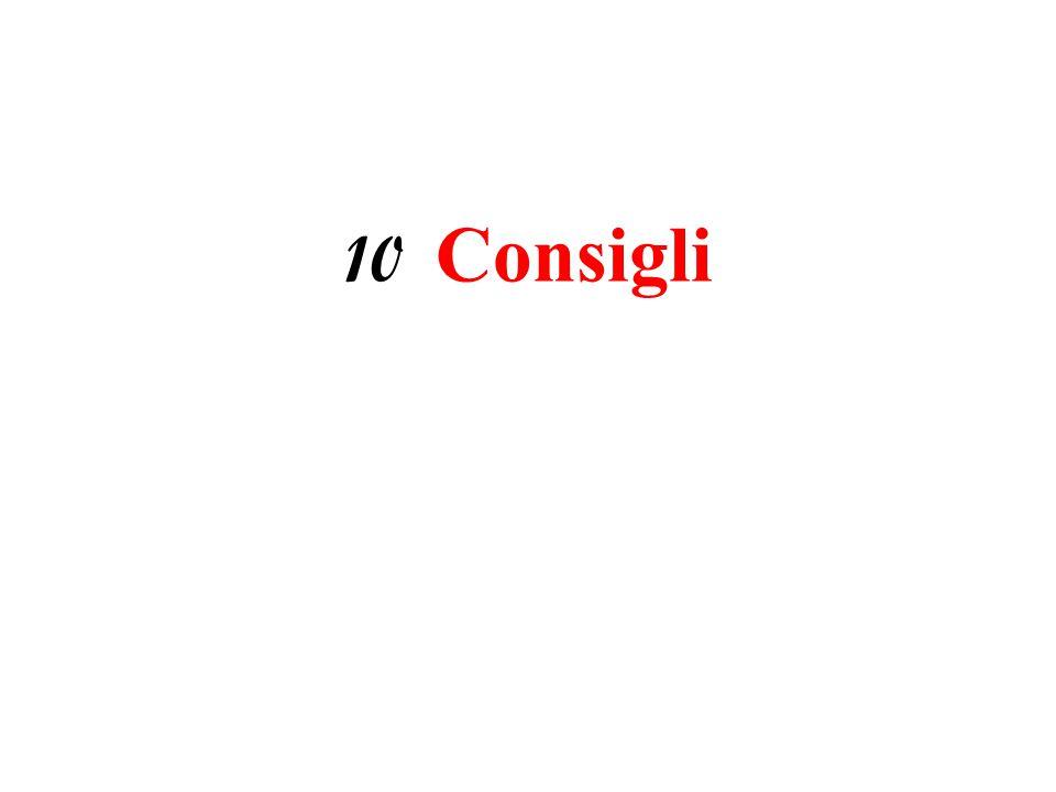 10 Consigli