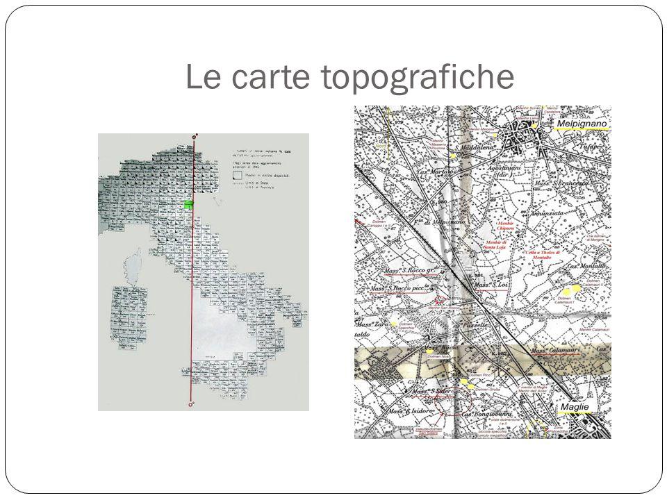 Le carte topografiche