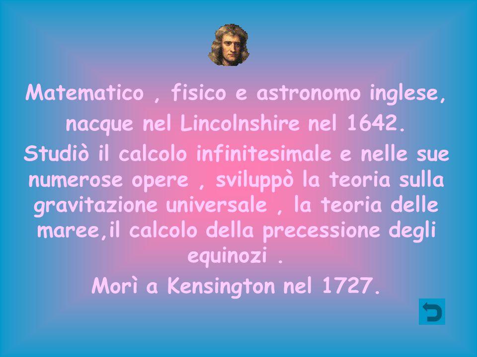 Matematico, fisico e astronomo inglese, nacque nel Lincolnshire nel 1642. Studiò il calcolo infinitesimale e nelle sue numerose opere, sviluppò la teo