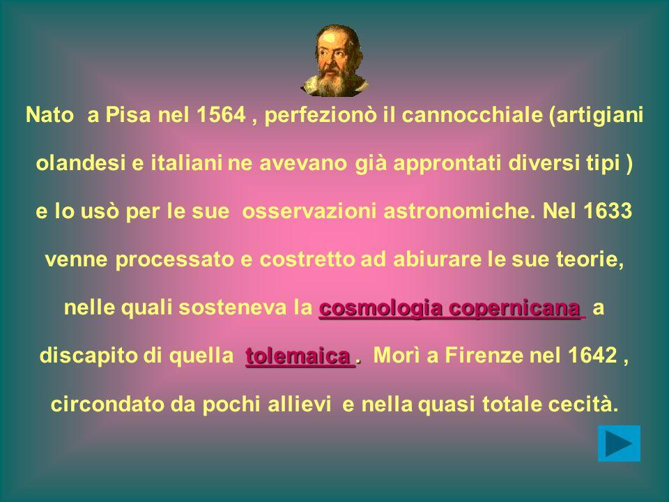 Nato a Pisa nel 1564, perfezionò il cannocchiale (artigiani olandesi e italiani ne avevano già approntati diversi tipi ) e lo usò per le sue osservazioni astronomiche.